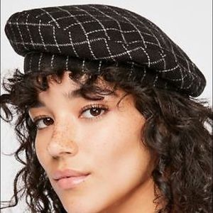 Free People Check You Out Structured Beret NWOT